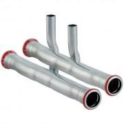 Geberit Mapress C-Stahl Set Anschluss-T-Stück für Vor- und Rücklauf
