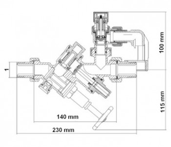 "SYR Sicherheitsgruppe 24 SYRoblock DN 20, 1"" Gewinde, 6 bar, rohgelb"