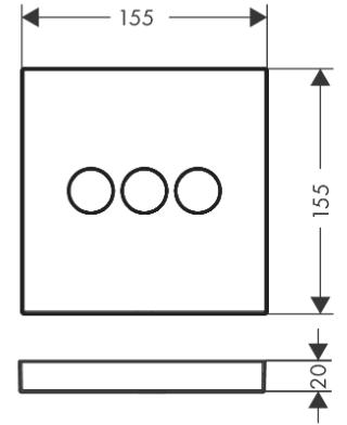 Hansgrohe PICTA Select UP-Ventil für 3 Verbraucher, chrom, 13754000