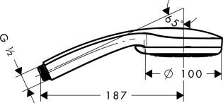 Hansgrohe Croma 100 Vario Handbrause chrom