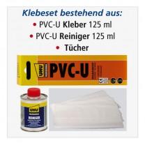 AIRFIT Klebe-Set PVC-U Kleber und Reiniger á 125 ml, Tücher, Modell 10000KS