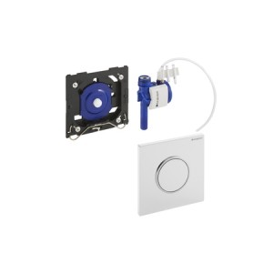 Geberit HyTouch Urinal-Handauslösung, pneumatisch, Design Sigma10, weiß/verchromt