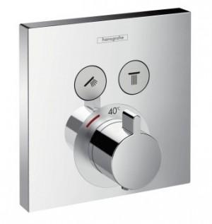 Hansgrohe PICTA Select UP-Thermostat-Fertigm.-Set für 2 Verbraucher, chrom, 13755000