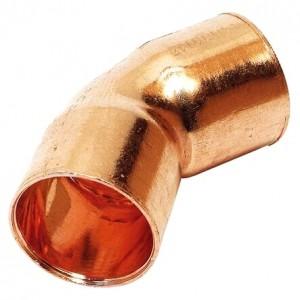 Kupfer Lötfitting Bogen 15 mm, 2 Muffe, 45°, Nr. 5041
