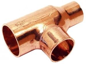 Kupfer Lötfitting T-Stück reduziert 35 x 28 x 28 mm Nr. 5130