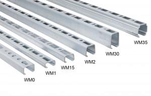 BIS RapidRail Montageschiene, verzinkt, Profil 27 x 18 mm (WM0), 1,5 Meter, 6505000