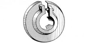 """Heizkörper-Rosette 28 mm 3/4"""" weiss"""