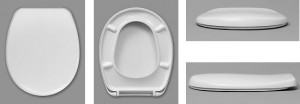 HAUSMARKEN WC-Sitz, Farbe weiss