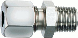 """GOK Schneidring-Verschraubung 10 mm x 3/8"""" AG"""