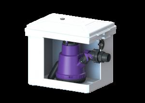 KESSEL Schmutzwasser-Hebeanlage Minilift 28560 Überflurinstallation