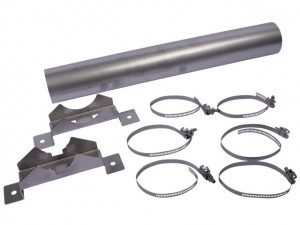 Grundfos Kühlmantel für Unterwasserpumpe mit Sieb und Auflageschellen, 98148594