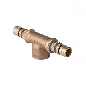 """Mepla VC T-Stück 16mm x 1/2"""" IG aus Rotguss, 601.360.00.5"""