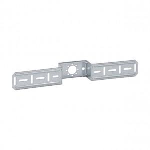 Mepla Montageplatte für 1 Armaturenanschluss, mit Bef.-Schrauben 601.733.00.1