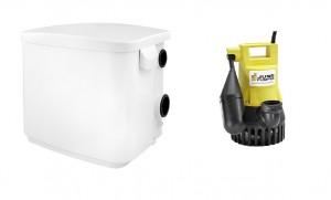 Jung U 3 KS Pumpe, JP00206 mit Hebefix Überflurbehälter, JP50210