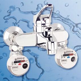 Badewannen-Wasserzähler Kaltwasser