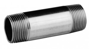 """Edelstahl Langnippel 1/2"""" x 100 mm"""