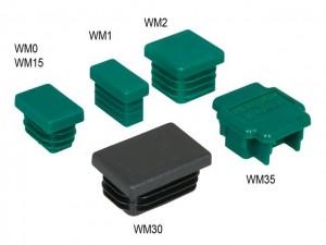 BIS Schienenendstopfen aus Kunststoff für 30 x 15 mm Profil (WM1)