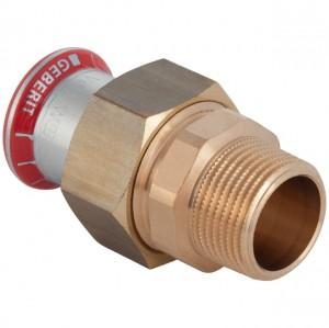 """Mapress C-Stahl Übergangsverschraubung 18mm x 1/2"""" AG"""