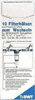 """BWT Filtervlies Wechselbox 3/4"""" - 1 1/4"""" 10 Stück"""