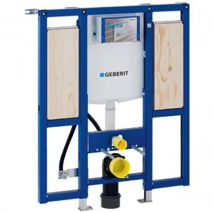 Geberit Duofix Element für Wand-WC, 112 cm, mit Sigma UP-Spülkasten 12 cm, barrierefrei, für Stütz- und Haltegriffe