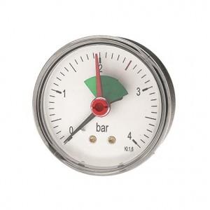 "Manometer 0 - 4 bar 3/8"" Abgang hinten"