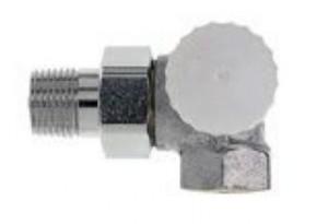 "Heimeier Thermostat-Ventilunterteil V-exact II 3/8"" Winkeleck/rechts"