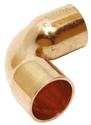 Kupfer Lötfitting Bogen 28 mm, 2 Muffen, 90°, Nr. 5002A