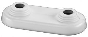 Simplex Doppelrosette weiss flache Ausführung