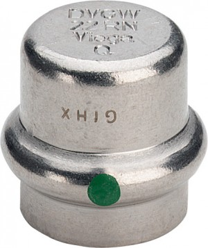 Sanpress Inox Verschlusskappe 18 mm Modell 2356