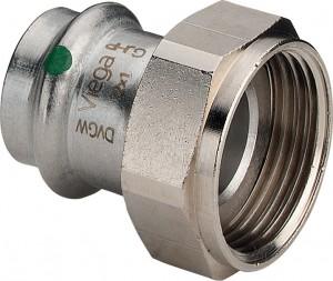 """Sanpress Inox Verschraubung 22 mm x 3/4"""" ÜW-Mutter, Modell 2363"""