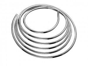 Kupferrohr in Ringform 8 mm, verchromt