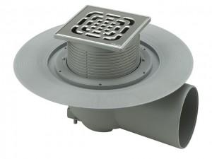 Viega Advantix-Bodenablauf DN 70, waagrecht, Rost 150 x 150 mm