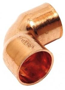 Kupfer Lötfitting Winkel 90° 2 Muffen Nr. 5090