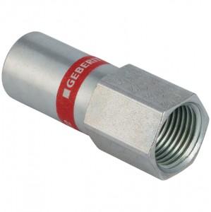Geberit Mapress C-Stahl Übergang mit Innengewinde und Einschubende