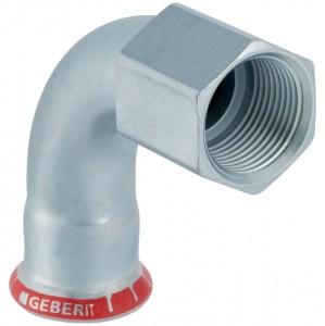 Geberit Mapress C-Stahl Übergangsbogen 90° mit Innengewinde