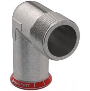 Geberit Mapress C-Stahl Übergangswinkel 90° mit Außengewinde