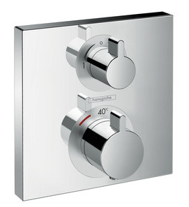 Hansgrohe PICTA Square UP-Thermostat-Fertigm.-Set für 2 Verbraucher, chrom, 13751000