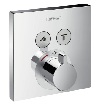 Hansgrohe PICTA Select UP-Thermostat-Fertigm.-Set für 2 Verbraucher, chrom, 13755000