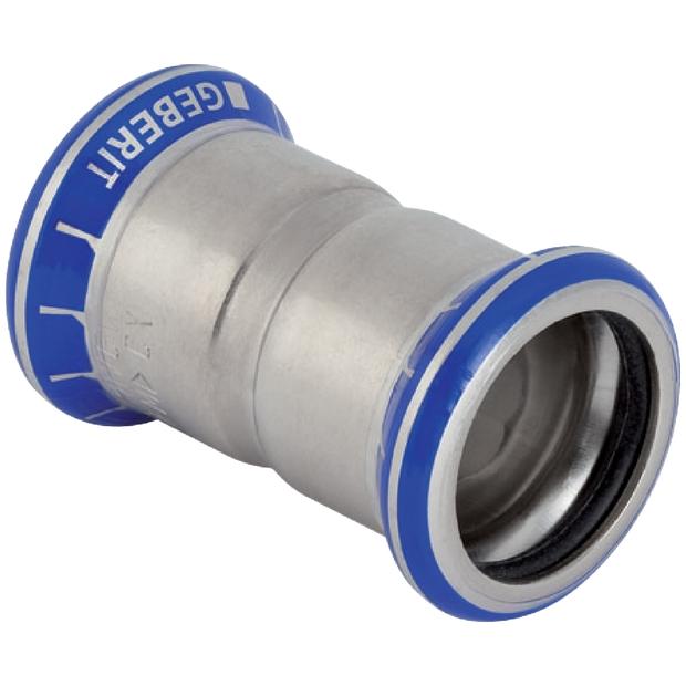 NEU GEBERIT EDELSTAHL PRESSFITTING MUFFE 15 mm