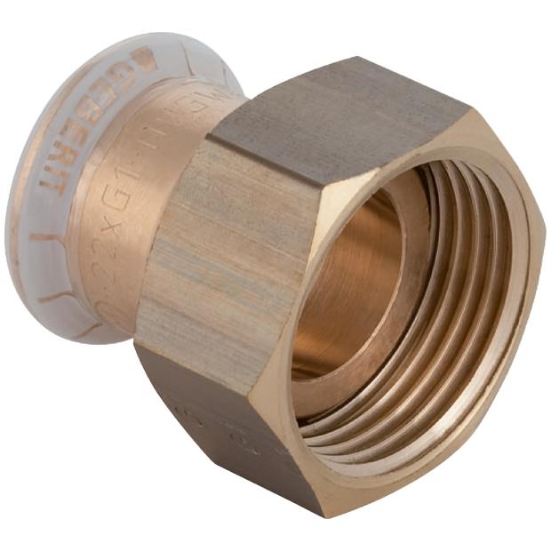 """Mapress Kupfer Verschraubung 18 mm x 3/4"""" Überwurf, flachdichtend"""