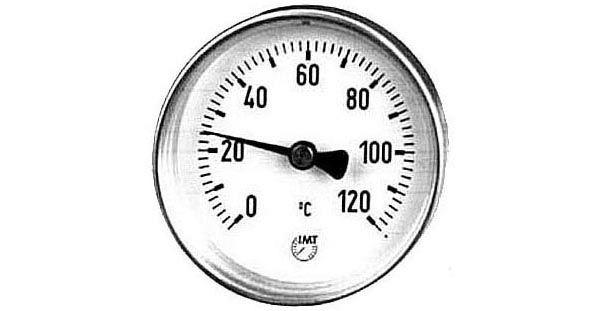 Zeigerthermometer d = 80 mm 0 - 120°