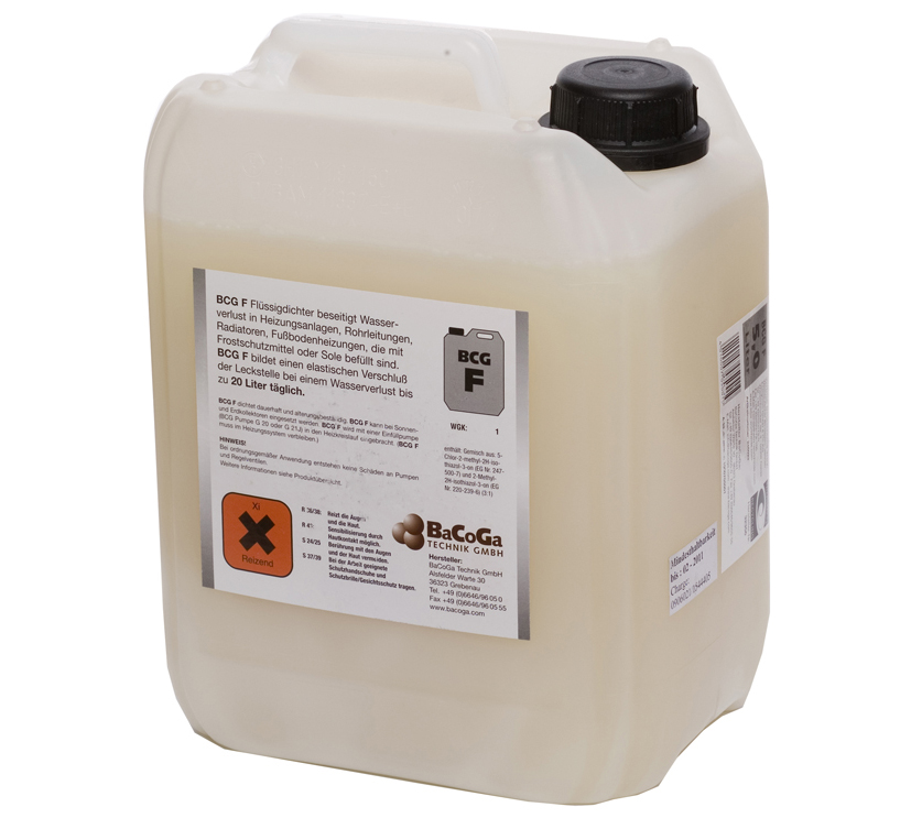 BCG F Flüssigdichter, für frostgeschützte Anlagen, 5 Liter Kanister