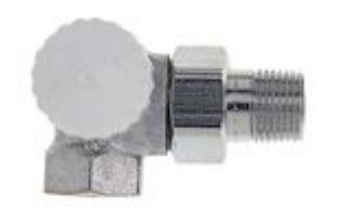 "Heimeier Thermostat-Ventilunterteil V-exact II 1/2"" Winkeleck/links"
