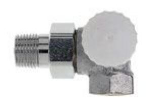 "Heimeier Thermostat-Ventilunterteil V-exact II 1/2"" Winkeleck/rechts"