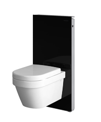geberit monolith sanit rmodul f r wand wc h he 101 cm glas schwarz. Black Bedroom Furniture Sets. Home Design Ideas