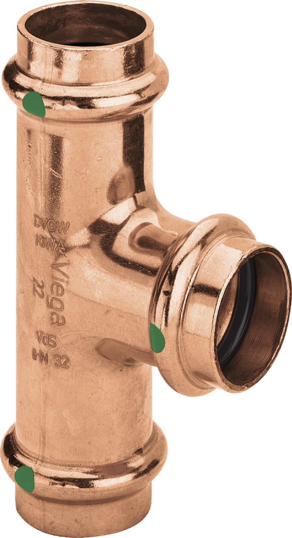 5x VIEGA PROFIPRESS T-STÜCK 28 MM//15 MM//28 MM PRESSFITTINGE PRESSFITTINGS 295189