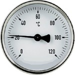 Bimetall-Anlegethermometer 0 - 120° d = 63 mm