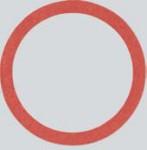 """Fiber-Ring Dichtung 3/8"""" 10-Stück Packung"""