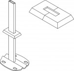 Kermi PVC Rosette für Standrohrkonsole, Rohbodenmontage